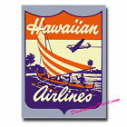 2 x Glossy Vinyl Stickers - Hawaiian Hawaii Airlines Luggage Laptop Decal #0093