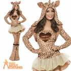 Fever Giraffe Costume Adult Sexy Animal Fancy Dress Womens Outfit UK 4 - 18