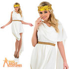 Ladies Toga Fancy Dress Adult Roman Empress Costume Greek Womens Outfit UK 8-22