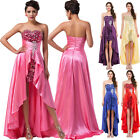 New Long Strapless Evening Bridesmaid Dresses Prom Dress Formal Party Ball Gowns