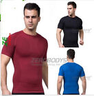 Men Body Shaper Slimming Vest Muscle Enhancing Fitness Short Sleeve Shirt