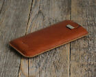 Leather cover for iPhone (choose your model) sleeve case pouch personalised