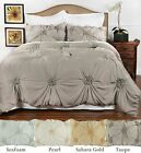 Hand Tufted Peony style comforter set with 2 pillow shams - 4 colors - 2 sizes  image