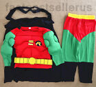 2-7 Robin Hood Boys Kids  Muscle Costume Set Halloween Party Dress Up Outfit