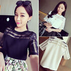 1PC Sexy Womens Chiffon Gauze Short Sleeve T-Shirt Casual Blouse Tops Vogue