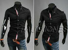 2014 Men's Stylish Short Sleeve Slim Fit Casual Solid Dress Shirts Tops 5 Colors