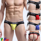 Sexy Men's G-string Low Rise Pouch Underwear Jockstrap Briefs Shorts Lingerie