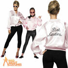 Pink Ladies Jacket Lady Officially Licensed Grease Fancy Dress Costume