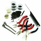 black hair with red tips - NEW 500 Pieces Nano Rings Beads + Nano Tip Hair Extension Application Tools Kit