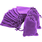 10 20 50 Velvet Jewellery Drawstring Wedding Gift Bag Favour Pouches Bags 4 Size