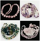 B4984 Kinds of stone loose beads & pendant necklace
