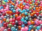 BUY 1 GET 1 FREE 75-150 6mm Round Drawbench Beads Mix Colours Jewllery Making