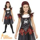 Child Pirate Fancy Dress Costume Skull & Crossbones Gothic Girls Book Week Day