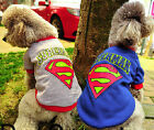 Fancy Pet Dog Puppy Superman Clothes Clothing Costume T-Shirt Apparel Size S~2XL