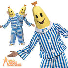 Bananas in Pyjamas Costume 80s Cartoon Funny Fancy Dress Outfit Unisex New