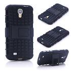 Black HEAVY DUTY TOUGH SHOCKPROOF CASE COVER FOR Samsung Galaxy S4 i9500 TZJK