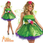 Fairy Nymph Costume Adult Ladies Tinkerbell Pixie Fancy Dress Outfit UK 8 - 22