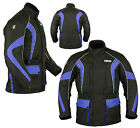New Mens CE Armoured Waterproof Motorbike Jacket Cordura Quilted Reflective Warm