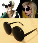 Mickey Ears Large Round Circle Flip Up Shade Lens Clear Lens Glasses Sunglasses