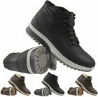MENS ANKLE HI HIGH TOPS TRAINERS BOOTS CASUAL WORK HIKING TREKKING SHOES ARMY