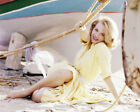 ANGIE DICKINSON RARE BEAUTIFUL BAREFOOT GLAMOUR POSE ON BEACH PHOTO OR POSTER