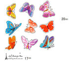 9 Colourful butterflies wall stickers Decal Switch Funny car toilet wall Art Au
