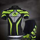 Mens Bike Padded Wear Bicycle Set Short Sleeve Cycling Sport Jersey Shorts Suit