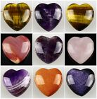 0774 26x12mm Kinds of stone heart-shaped pendant bead
