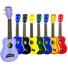 Makala Dolphin Soprano Ukulele Fitted with Aquila Strings Including Black Case