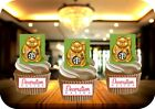 NOVELTY CHINESE LUCKY CAT GREEN 12 STAND UP Edible Image Cake Toppers China