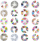 Nail Art Fimo Clay Rhinestones Glitters Acrylic Tips Decoration Manicure Wheel