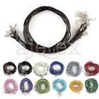 10pcs 46/51cm Leather Cord Necklace with Lobster Clasps Jewelry Making 1.5mm/2mm