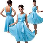 Burst Sells Chiffon Sleeveless Evening Prom Party Bridesmaid Knee-Length Dress
