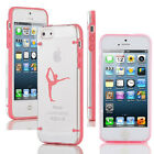 For iPhone 4 4s 5 5s 5c Transparent Clear Hard TPU Case Cover Dancer Gymnastics