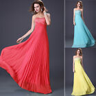 SALES~Long Chiffon Wedding Evening Formal Party Ball Gown Prom Bridesmaid Dress
