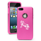 For Apple iPhone 4 4S 5 5S 5c Aluminum Silicone Hard Case Cover Draft Horse