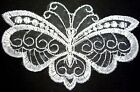 Bridal White Butterfly Lace Patch Motif Neckline Sew on A3