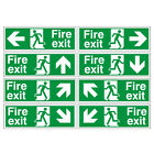 Fire exit signs 400x150mm Self Adhesive Sticker, choose arrow direction