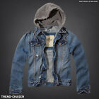 Hollister by Abercrombie - Mens Trestles Beach Hoodie Denim Jacket - S M L NEW!