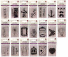 LOT TAMPON TRANSPARENT CLEAR SCRAP ENCRE OISEAU PAPILLON COEUR MOUSTACHE TABLIER