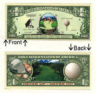 Sports Golfing Fore Dollars Novelty Bill Notes 1 5 25 50 100 500 or 1000