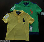 NWT Ralph Lauren Boys SS Colorblock Big Pony Mesh Polo Shirt Sz 5 6 7 NEW $45 4e