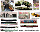 OO Scale Model Kits Canal Boats/ Narrow Boats / Barges and Accessories