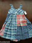 NWT Ralph Lauren Girls Sleeveless Madras Patchwork Dress Sz 12 14 16 NEW $85 3g