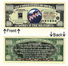 Military Women 1 Million Dollars Novelty Bill Notes 1 5 25 50 100 500 or 1000
