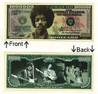 Jimi Hendrix One Million Dollars Bill Novelty Notes 1 5 25 50 100 500 or 1000