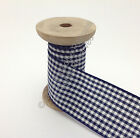 Berisfords Gingham (Small Check) Ribbon - 13 Navy CHOOSE WIDTH & LENGTH