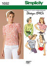 Vintage 1940s Simplicity Sewing Pattern 1692 - Misses' Retro Tops Blouse 6-28