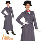Adult Mary Poppins Costume Ladies Edwardian Nanny Fancy Dress Womens Outfit New