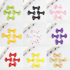40Pcs Bowknot With Dots Girls Women Hair Accessory Applique DIY Embellishment